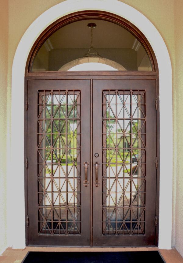 Custom Wrought Iron Doors   Suncoast Iron Doors   Fort Meyers, FL   Style: Crossfire