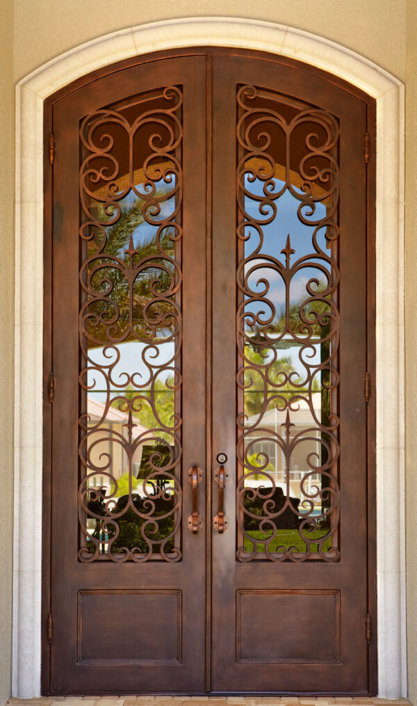 Custom Wrought Iron Doors | Suncoast Iron Doors | Fort Meyers, FL | Style: Lafayette