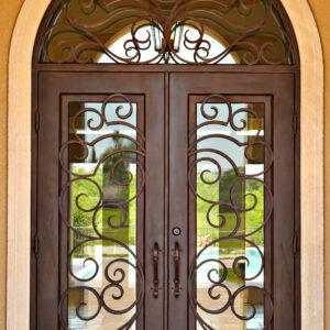 Custom Wrought Iron Doors | Suncoast Iron Doors | Fort Meyers, FL | Style: Olympia