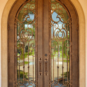 Custom Wrought Iron Doors | Suncoast Iron Doors | Fort Meyers, FL | Rosaline