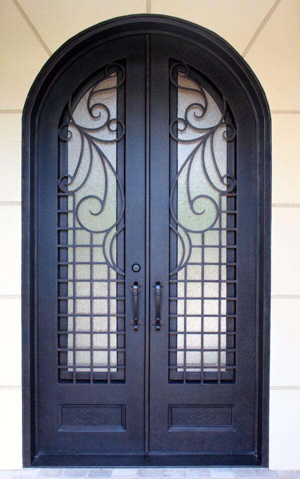 Custom Wrought Iron Doors | Suncoast Iron Doors | Fort Meyers, FL | Snow