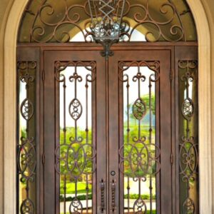 Custom Wrought Iron Doors | Suncoast Iron Doors | Fort Meyers, FL | Twilight