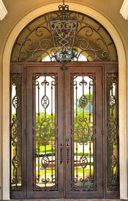 Custom Wrought Iron Doors | Suncoast Iron Doors | Fort Meyers, FL | Twilight
